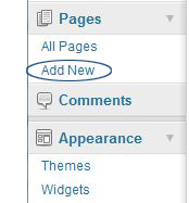 add a page WordPress